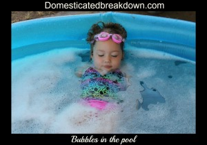 bubbles in pool