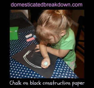 chalkboard construction paper